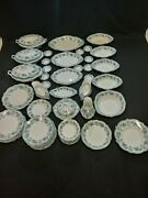 75 Pieces Antique W H Grindley And Co Brussels Green With Gold Accents