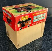 Vintage 1960s Japanese Battery Operated Tin Toy Barbecue Grill Set In Box👍