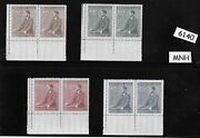 Two Mnh Stamp Sets / 1942 Third Reich / Adolph Hitler Birthday / Wwii Germany
