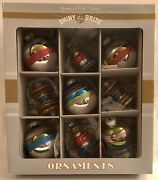 Christopher Radko Christmas Ornaments-2 Boxes Of 9 In Various Designs And Colors