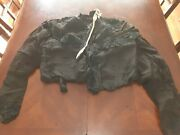 Antique 1880s Canfield Extra Fine Womens Black Silk Jacket Has Damage
