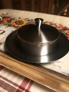 Vintage Stainless Steel Butter Dish Oneida