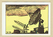 Fun With Pop Outer Space Card S-16 Antenna For Tracking Space Rockets C.1950s