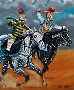 Napoleonic War 65cms X 53.5 Cms Original Oil Painting By Colin Carter