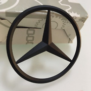 Mercedes Benz Matte Black Star Trunk Boot Rear Emblem Badge Sticker E350 E400