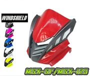 Motorcycle Accessories Front Windshield + Abs For Honda Msx-sf/msx-125 Grade Aaa
