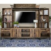 Crafters And Weavers Paulo Multi-wood Media Set / Tv Stand Wall Unit