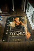 Titanic 3d James Cameron 4x6 Ft French Grande Movie Poster Rerelease 2012