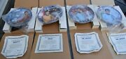 Hamilton Star Trek Collector Plates Set Of Four In Box With Certificates