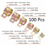 100pcs 10 Sizes  Autos Spring Clip Fuel Oil Water Hose Pipe Tube Clamp Fastener