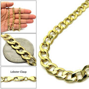 14k Yellow Gold Mens Womens Cuban Curb Link Chain Necklace 8mm 20-30