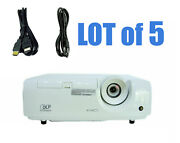 Lot Of 5 - Mitsubishi Xd280u Dlp Projector W/power Cords And Hdmi Cables