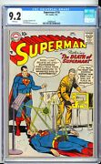 Superman 118 Cgc 9.2 Nm- Sharp With Bright White Pages Tough 1958 Era