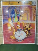 Vtg New Disney Beauty And The Beast Frame Tray Puzzle Golden 8308b Belle Sealed