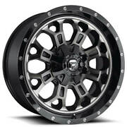 4 22 Fuel Wheels D561 Crush Gloss Black Double Dark Tint Off Road Rimsb42