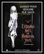 Nightmare Before Christmas C 4x6 Ft French Grande Movie Poster Original 1993