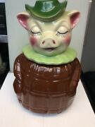 Andnbspshawnee Winnie Pig 61 Cookie Jar And Piggy Bank With Coin Slot Vintage 1940and039s