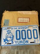 1967 Yukon License Sample Plate 0000 Prospector With Gold Nugget -envelope