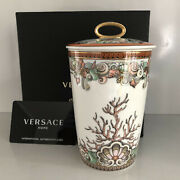 Rosenthal Versace Etoiles De La Mer Scented Candle 5 1/2 New In Box Votive Lid