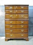 Immaculate Vintage Kittinger Solid Mahogany Chippendale Style Chest-on-chest