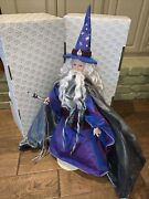 Franklin Heirloom Dolls Gandolf Lord Of The Rings 24 Tall With Hat And Staff
