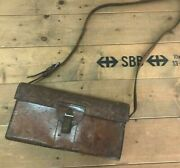 1950 Leather Bag - With Special Tool - Vintage Swiss Army Military