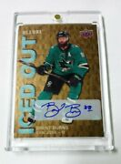 2019-20 Ud Allure Iced Out Golden Treasures Auto 1/1 Super Rare Brent Burns