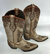 Double D Ranch Brave Eagle Studded Cowboy Boots Dd9002a Women Size 9.5 Very Good