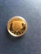 Donald Trump Gold Plated Cammander And Cheif Coin