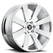 4 24 Dub Wheels 8 Ball S131 Chrome Rimsb41