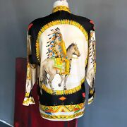 Gianni Versace Silk Shirt Native Americans Print Size It 44 From Fw 1992/93