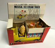 Vintage Bandai Battery Operated Musical Ice Cream Truck 4188 100 Tested