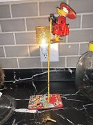 Disney 1950and039s Donald Duck Climbing Fireman Tin Toy By Linemar