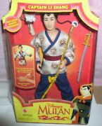 Disney Captain Li Shang From Mulan Doll Dated 1997 Box Is Crushed