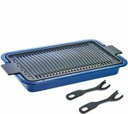 4-piece Stovetop And Bbq Grill/smoker By George Lopez In Dark Blue  @bq1