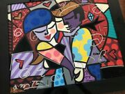 Romero Britto Hand Signed Autographed Dancers Embellished Giclee On Canvas 1/6