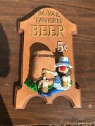 Royal Tavern Beer Advertising Wall Sign / Heavy Chalk Ware / 8.lbs /11 By 18.