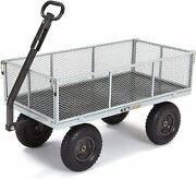 Gorilla Carts Gor1001-com Heavy-duty Steel Utility Cart With Removable Sides 10