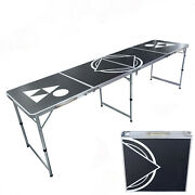 Beer Pong Table Portable Party 8ft Folding Indoor Outdoor Game Table Party Campi