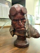 Limited Edition Sideshow Hellboy Faux-bronze 11 Life Size Bust