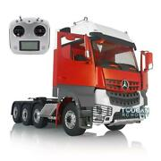 Rc 1/14 Lesu Metal Chassis Sound Hercules Actros 3363 Cabin Tractor Truck Radio