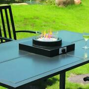 14 Propane Gas Fire Bowl Tabletop Stainless Steel Burner Outdoor Warm Heater