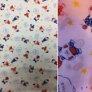 """2 X V Large Pieces Vintage Childrens Fabric Total = 224"""""""