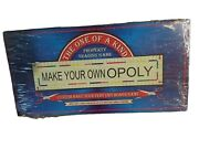 New Monopoly - Make Your Own Opoly Board Game. Tdc Games - Made In Usa