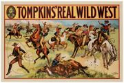 Vintage Tompkins Real Wild West Show Donaldson Litho Shooting And Lassoes