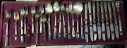 Vintage Wm Rogers Sectional Is Silverplate 55 Pc. Flatware Set