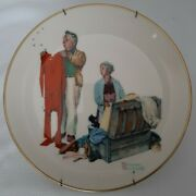 1978 Norman Rockwell Fall Chilly Reception Gorham China 10 3/4 With Wall Hanger