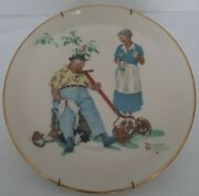 1978 Norman Rockwell Gorham China Summer-cool Aid 10 3/4 With Wall Hanger