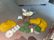 Vintage 1975 Hasbro Toy Weebles Set Treasure Island And Pirate Ship 4 Weebles 6662