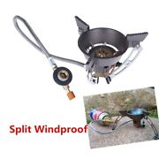Camping Gas Burner Windproof Outdoor Stove Portable Cooker Hiking Climbing Bbqs